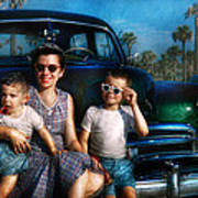 Americana - Car - The Classic American Vacation Poster