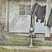 Amish Pump And Cup Poster