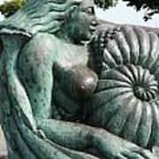 Ammonite Statue Poster