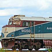Amtrack Engine Poster