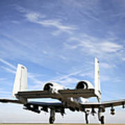 An A-10 Thunderbolt II Taxies Poster by Stocktrek Images
