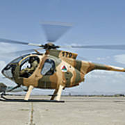 An Afghan Air Force Md-530f Helicopter Poster