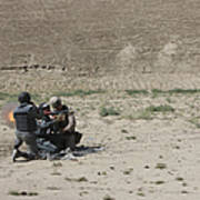 An Afghan Police Studen Fires Poster