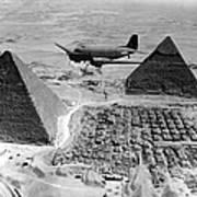 An Air Transport Command Plane Flies Poster