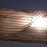 An American Flag At Sunrise Poster