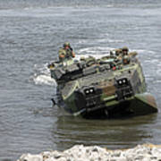 An Amphibious Assault Vehicle Climbs Poster