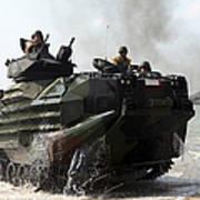 An Amphibious Assault Vehicle Hits Poster
