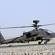 An Apache Helicopter Prepares Poster
