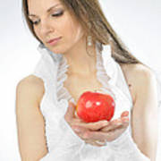 An Apple In Hands Poster