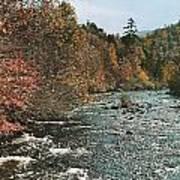 An Autumn Scene Along Little River Poster