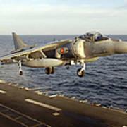 An Av-8b Harrier II Prepares To Land Poster by Stocktrek Images