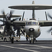 An E-2c Hawkeye Aircraft On The Flight Poster