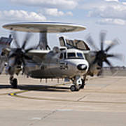 An E-2c Hawkeye On The Runway At Cannon Poster