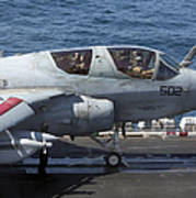 An Ea-6b Prowler During Flight Poster
