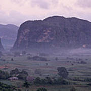 An Early Morning Landscape In Cubas Poster