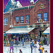 An Early Snow For Cafe Monte Alto Poster