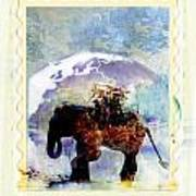 An Elephant Carrying Cargo Poster