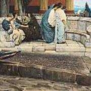 An Exedra Poster by Sir Lawrence Alma-Tadema