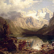 An Extensive Alpine Lake Landscape Poster