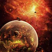 An Eye-shaped Nebula And Ring Poster