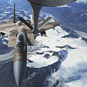 An F-15c Eagle Aircraft Sits Poster by Stocktrek Images