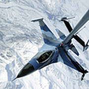 An F-16 Aggressor Sits In Contact Poster