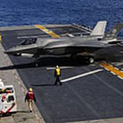 An F-35b Lightning II Makes A Vertical Poster