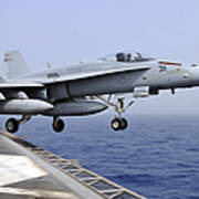 An Fa-18c Hornet Catapults Poster