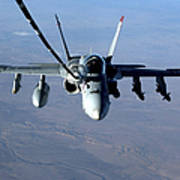 An Fa-18c Hornet Receives Fuel Poster by Stocktrek Images