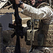 An Infantryman Talks To His Marines Poster