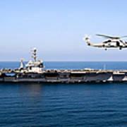 An Mh-60r Sea Hawk Flies Poster