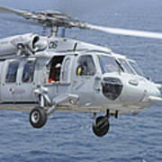 An Mh-60s Sea Hawk Search And Rescue Poster