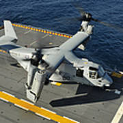 An Mv-22 Osprey Lands Aboard Uss Poster