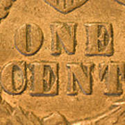 An Old United States Indian Head Penny Poster