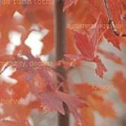 An Orange Fall Tree With Words Poster