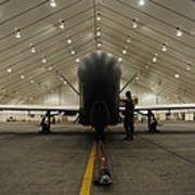 An Rq-4 Global Hawk Unmanned Aerial Poster