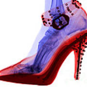 An X-ray Of A Foot In A High Heel Shoe Poster