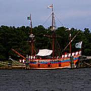 Anchored Ship Poster