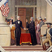 Andrew Jackson At The First Capitol Inauguration - C 1829 Poster