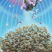 Angel over the olive tree Poster