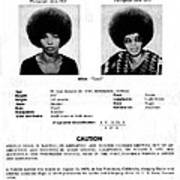 Angela Davis Fbi Wanted Ad, August 8th Poster by Everett