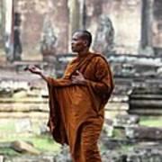 Angkor Wat Monk Poster