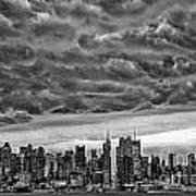Angry Skies Over Nyc Poster