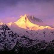 Annapurna South At Sunrise, Nepal Poster