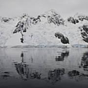 Antarctic Mountains Reflected Poster