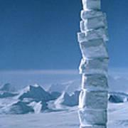 Antarctic Snowman Poster