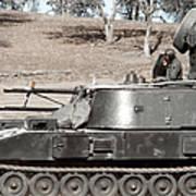 Anti-aircraft Guns Mounted On An M109 Poster