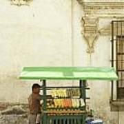 Antigua Fruit Vendor Poster