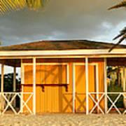 Antiguan Beach Hut Poster