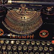 Antiquated Typewriter Poster